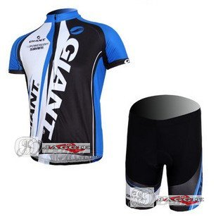 Free shipping!!! GIANT blue short sleeve cycling wear clothes short sleeve bicycle/bike/riding jersey+pants/S-XXXL