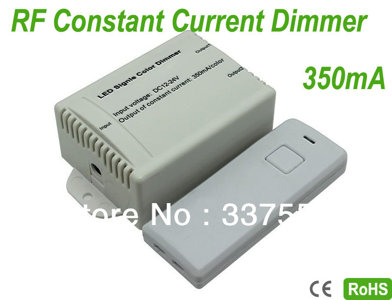 2 Channels Output LED Wireless RF Audio Constant Current 350mA/channel Dimmer,Portable,RGB LED Controller,12V:<8.4W, 24V:<16.8W(China (Mainland))
