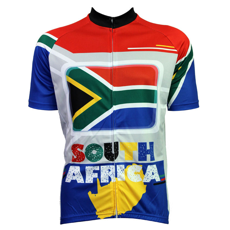 New Mens Cycling Jersey Comfortable Bike/Bicycle shirt South African flag pattern Alien SportsWear  cycling clothing Size2XS-5XL<br><br>Aliexpress
