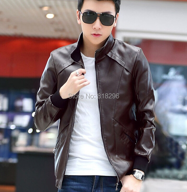 buy veste homme cuir 2015 brand leather jacket mens. Black Bedroom Furniture Sets. Home Design Ideas