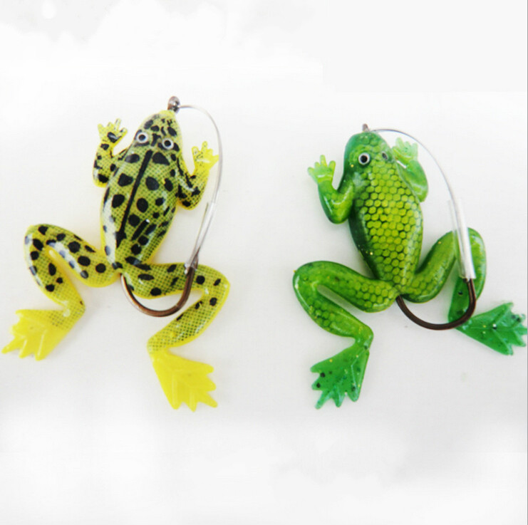 1pc rubber frogs soft fishing lures bass fishing lures new for Topwater fishing lure