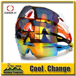 2016 Brand Deer H Polarized Cycling Bicycle Bike Outdoor Sports Fishing Style Sun Glasses Eyewear Sunglasses - Guangzhou Queshark & Technology Co.,Ltd store