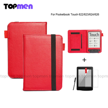 Official Flip Magnetic PU Leather Wallet Case Cover For Pocketbook Touch 622/623/624/626 with high quality and best price