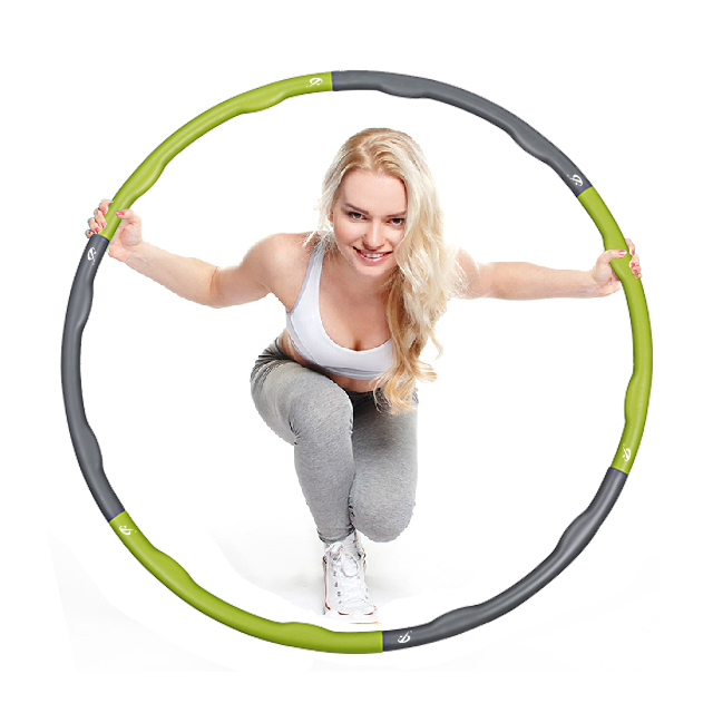 Fitness equipments hula hoops PP MBR TPR removable massage waist hoop circle to fitness body building 980mm(China (Mainland))