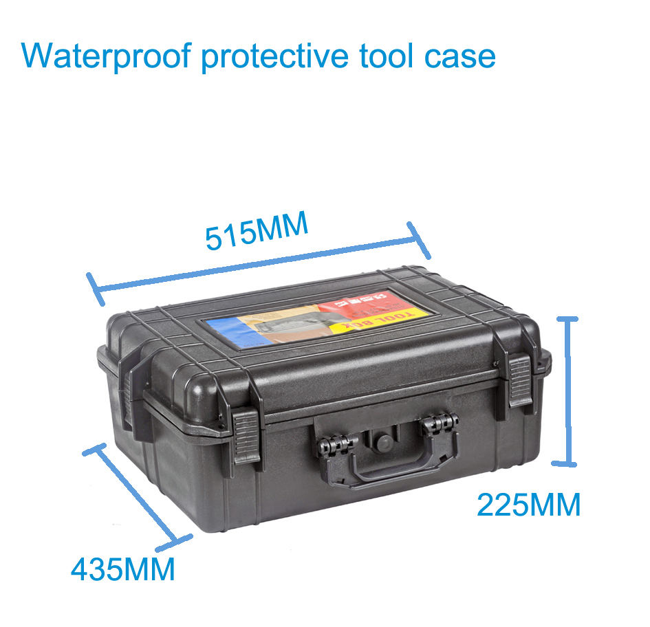 Фотография Tool case toolbox suitcase Impact resistant sealed waterproof plastic case equipment box camera case Meter box with pre-cut foam