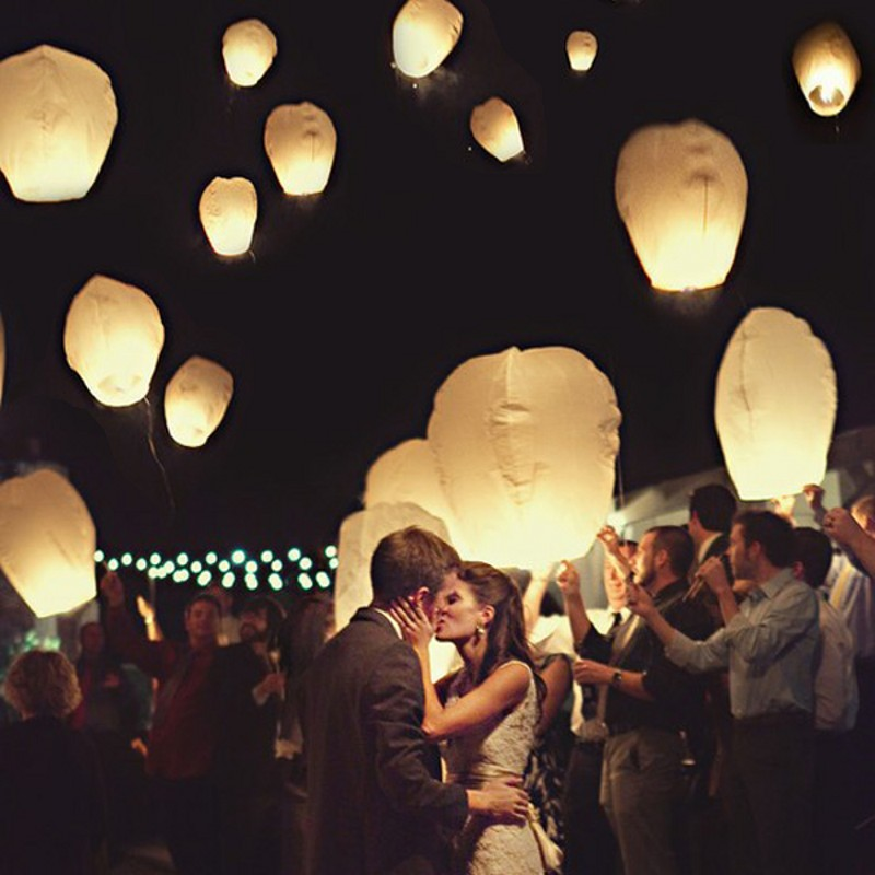20pcs/lot Kongming wishing Lantern wedding Flying Balloon Chinese Halloween sky Lantern light paper lantern(China (Mainland))