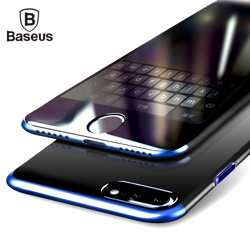 Baseus PC Hard Case For iPhone 7 Cover For iPhone 7 Plus Case Anti-scratch Electroplating Protective Phone Bag Shell Coque(China (Mainland))