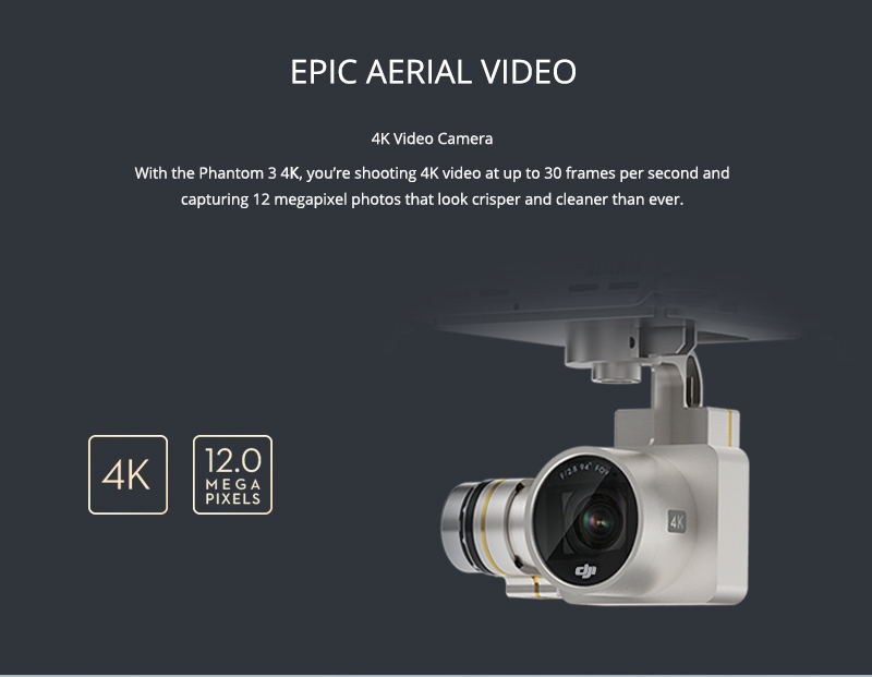 100% Original Dji Phantom 3 4K Camera Drone FPV RC Helicoper with 4K Camera VS Dji Phantom 3 Professional DHL EMS Free