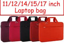 Solid 11 12 14 15 17 inch Computer laptop notebook tablet bags case messenger Shoulder bag men women