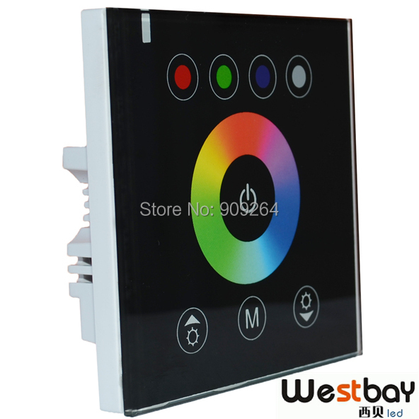 Free shipping, DIY home lighting NEW RGBW LED Touch Panel Controller for LED Neon flex strip lights,DC12V lights(China (Mainland))