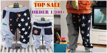 2015 Spring autumn 1-4 years baby pants children trousers stars children pants boys Haren Pants LS55(China (Mainland))