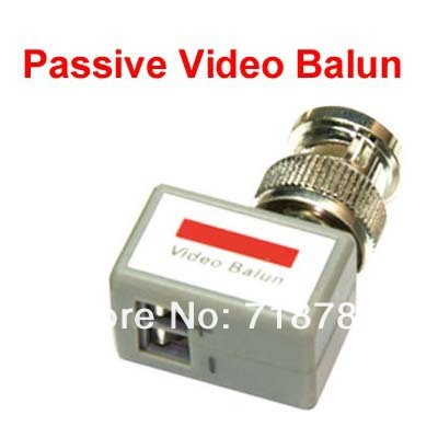 Free Shipping Mini CCTV Passive Video Balun camera UTP Transceivers BNC Connector Cat5 500pcs (250pairs)