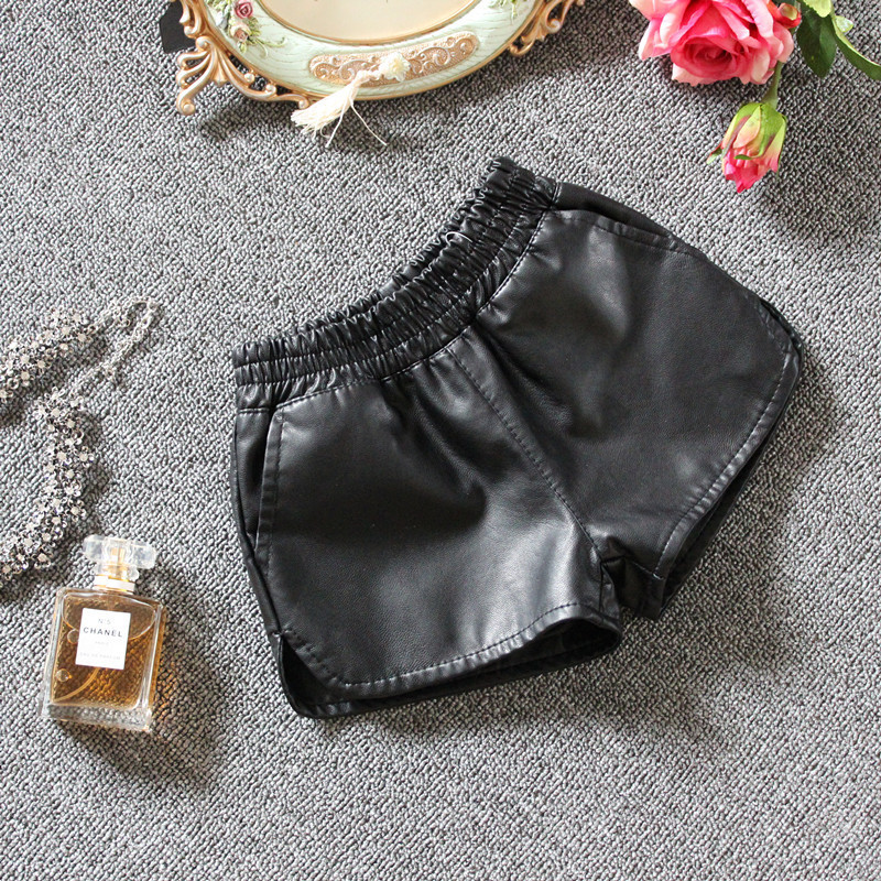2017 fashion baby girls shorts Beautiful kids leather shorts free shipping spring autumn short girls leggings leathers pants