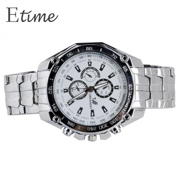 חדשות אוטומטי היד פלדת חגורת שעון ספורט עסקים קוורץ שעון גברים שעון היד לשנת 2014 SV000898 b007