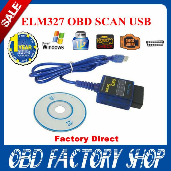 Mult-language! Factory Direct! 2015 Newest 100% Vgate USB ELM327 OBD2 / OBDII ELM 327 V2.1 highest quality(China (Mainland))