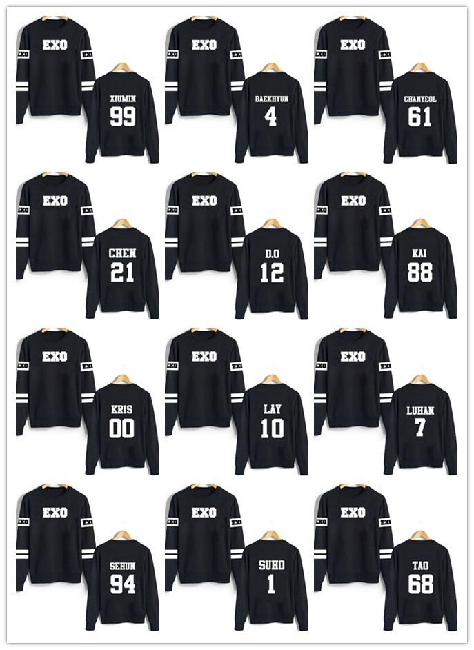 Женские толстовки и Кофты Kpop EXO baekhyun kroea 2016 new arrive kpop exo luhan kris sehun lay chanyeol baekhyun umbrella