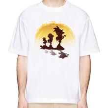 2018 Dragon Ball футболка Для мужчин летний топ Dragon Ball Z Супер сын Гоку косплей прикольные футболки Аниме Вегета DragonBall футболка топ(China)