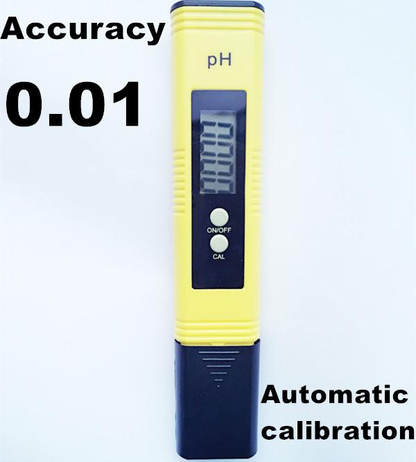50Pcs/Lot PH Meter Portable accuracy 0.01 Acidity Pocket Pen Digital Durable Aquarium PH Measure Device  automatic calibration