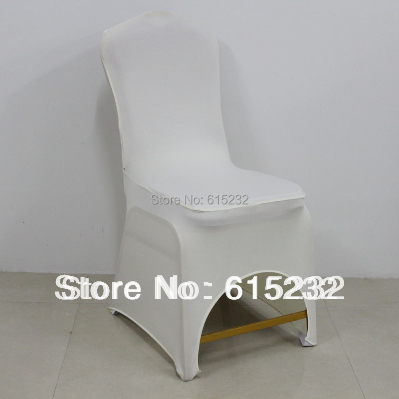 Russia ukraine belarus shipping free by EMS 100pc good quality white Spandex Chair Covers for wedding party220G SQUARE METER(China (Mainland))