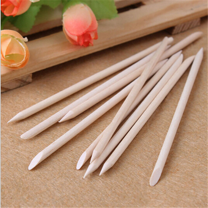 10pcs nail art design orange sticks cuticle pusher remover manicure care/orange wood stick nail tools(China (Mainland))