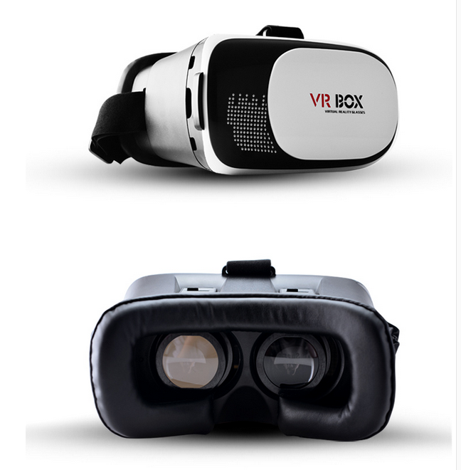 New arrival Google Cardboard VR BOX 2 Virtual Reality 3D Glasses Game Movie 3D Glass For iPhone Android Mobile Phone VR1
