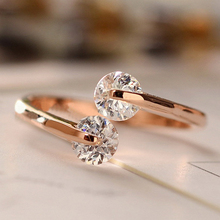 GH625 Gold Silver Plated Elegant CZ Diamond opening round Rings wholesale Jewelry For women Gifts, Mix $10 Free shipping