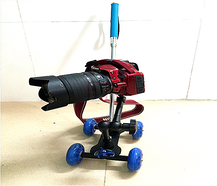3in1 Table dolly Rail Car + 11 inch Magic arm + Handheld stick monopod DSLR Rig Camera movie kit D7100 750D D3200 Accessories(China (Mainland))