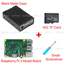 Raspberry Pi3 Set Pi 3 Model B Board + Metal Case 16GB TF Card Small Screwdriver - Vership Co., Ltd store