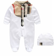 Jumpsuit 2016 Autumn Luxury Fashion Brand Children's Clothing Newborn Baby Boy Cotton Coveralls Romper Climbing Clothes Leotard
