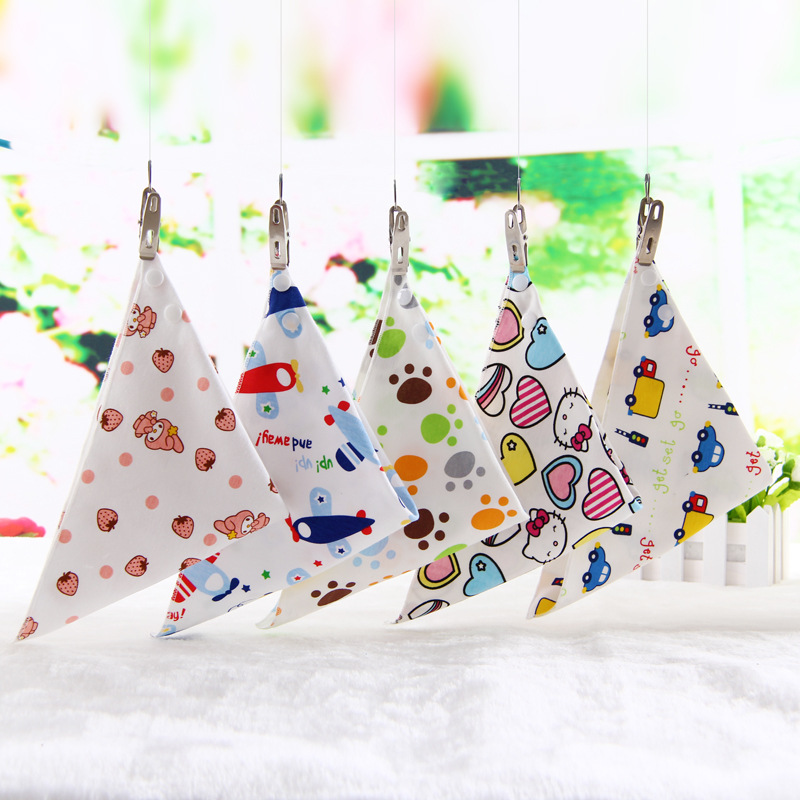 Baby bibs High quality Cartoon Character Animal Print baby bandana bibs triangl double layers cotton baberos bebes 1608(China (Mainland))