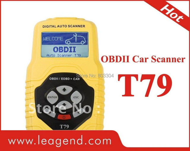 Car Diagnostic tool OBDII auto scanner T79(yellow, multilingual,updateable)