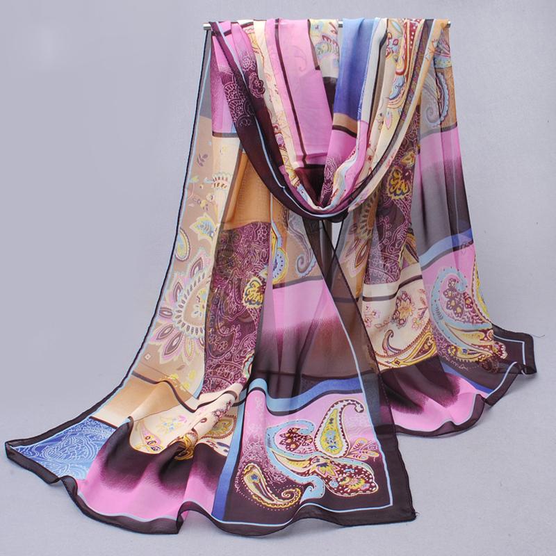 Chiffon silk scarf 2015 scarf female summer and autumn all-match scarf long design air conditioning cape silk scarves shawl
