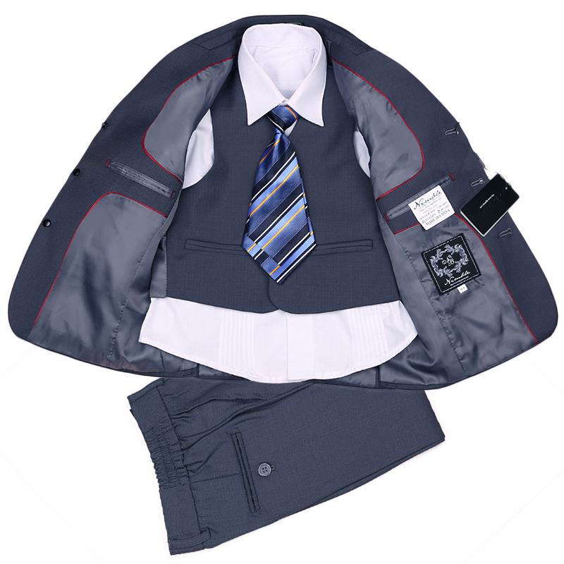 Fashion Three-Pieces Children Boys Formal Suits Set Grey New Year School Wear Boy Suit Jackets - Dongguan Jiahao Apparel & Co., Ltd store