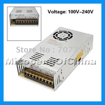 FREE   SHIPPING NEW DC 12V 30A Durable Regulated Switching Power Supply 360W FOR  LED CCTV CAMERA
