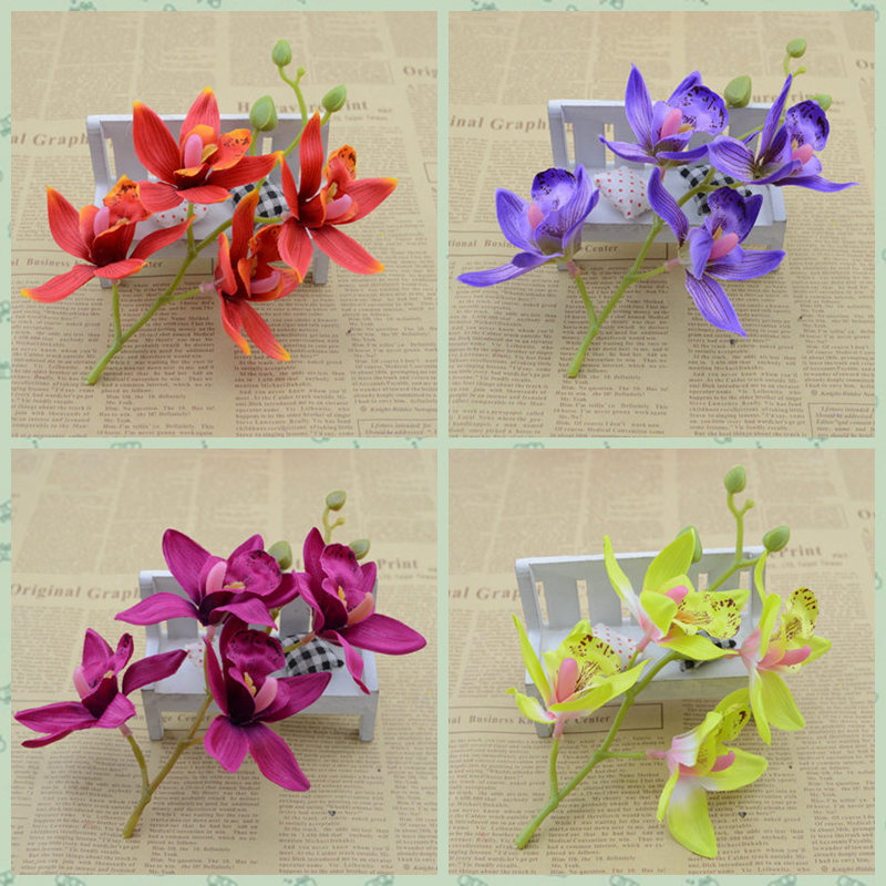 DIY fake flowers placed floral simulation flower Phalaenopsis living room coffee table dining table decoration(China (Mainland))