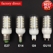 Best price LED Corn lamp E27 E14 Gu10 G9 bases 4W 5W bulb Spotlight lampada 220v LED lamparas ,Promotion with Big discount(China (Mainland))