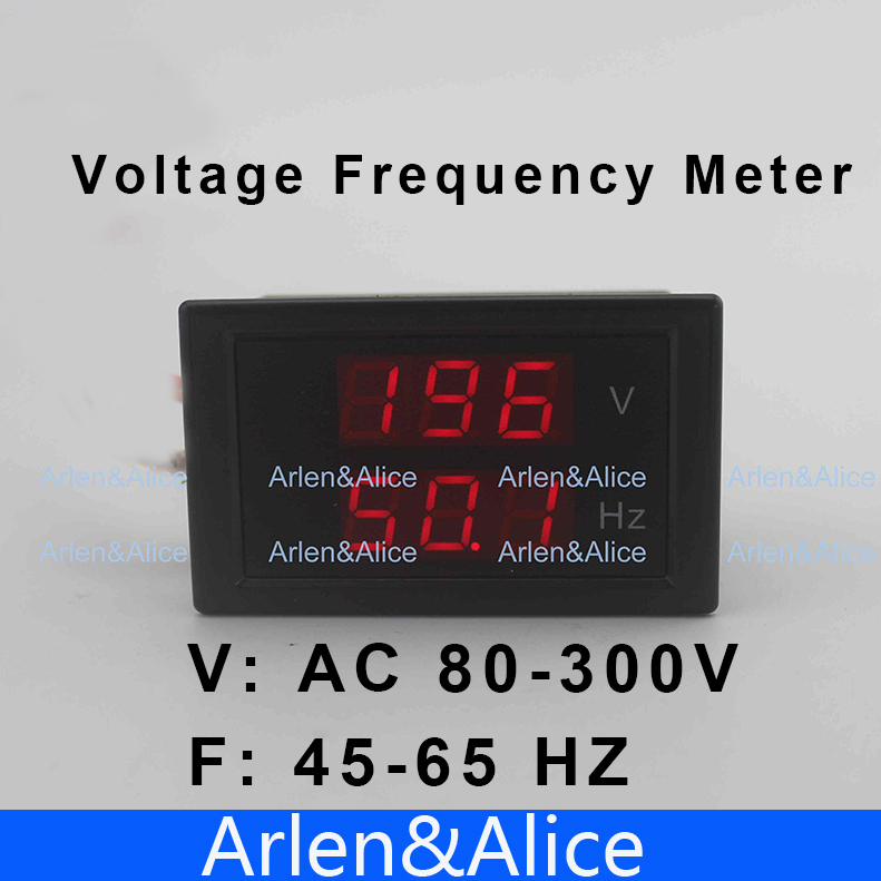 LED dual display Voltage frequency  meter  voltmeter  range AC 80-300V 45.0-65.0 Hz  Panel Monitor<br><br>Aliexpress