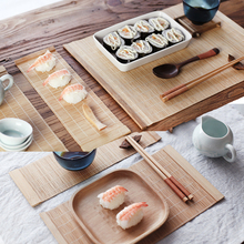 Bamboo Tea Cup Mat Kitchen Dinning Table Placemats Handmade Sushi Rolling Classic  Home Decoration Kitchen Accessories(China (Mainland))