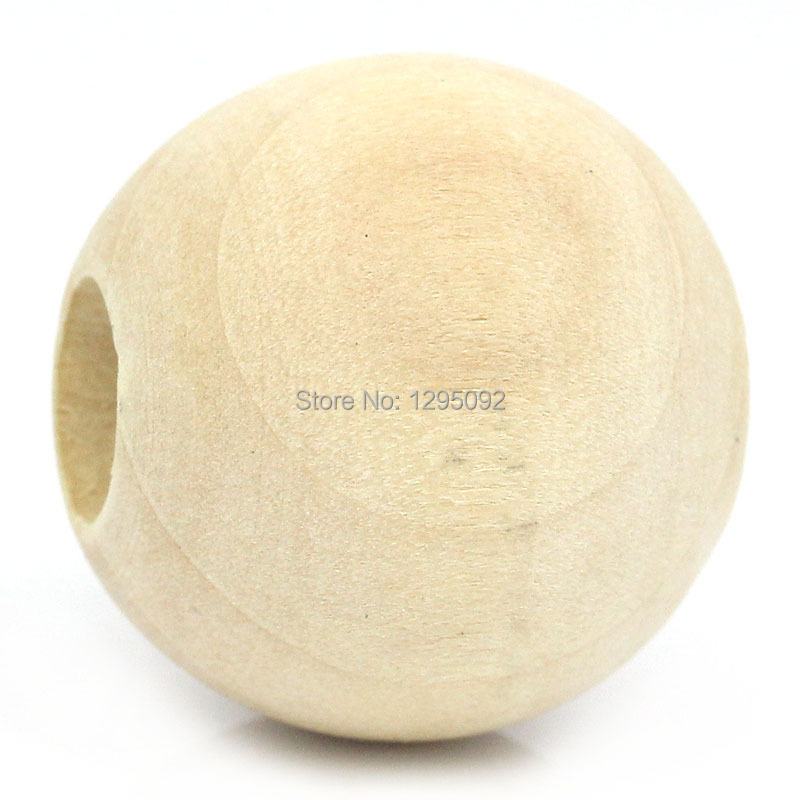 500Pcs Wholesale Round Wood Spacer Beads Natural Color Wooden Charms Jewelry Findings 25mm Dia.(1)<br><br>Aliexpress