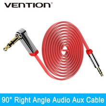 Buy Vention 3.5mm Aux Cable Jack Jack Gold Plated 90 Degree Right Angle Audio Cable Car android Samsung iphone Ipod for $1.74 in AliExpress store