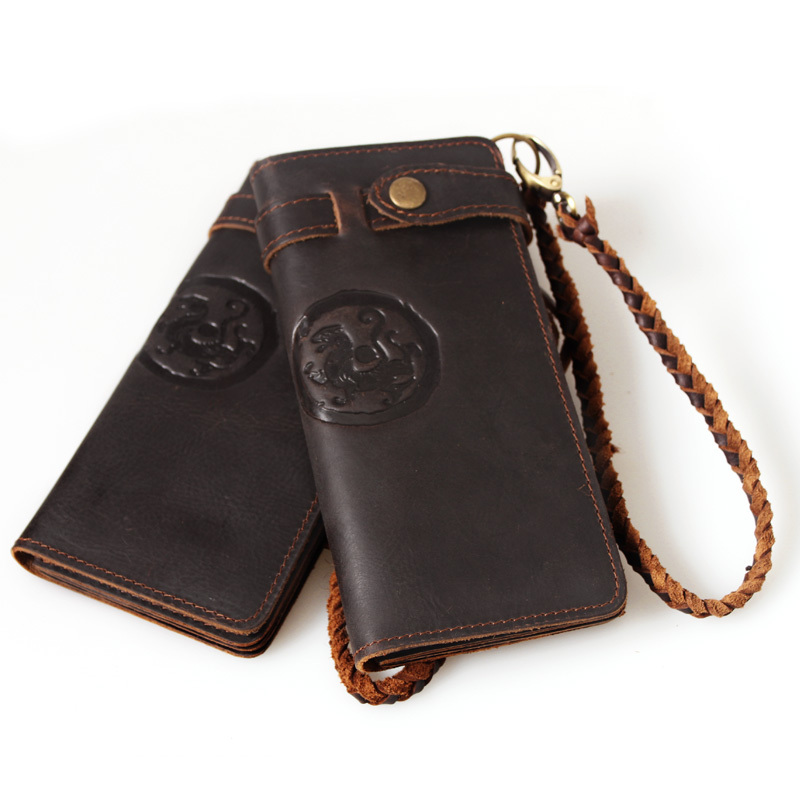 handmade embossed male long design fashion male genuine leather wallet  multi-layer day clutch bag 3377<br><br>Aliexpress