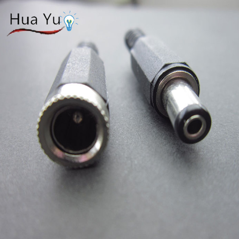 100 Set 2.1x5.5mm DC Power Female Plug Jack + Male Plug Jack Connector Socket Adapter<br><br>Aliexpress