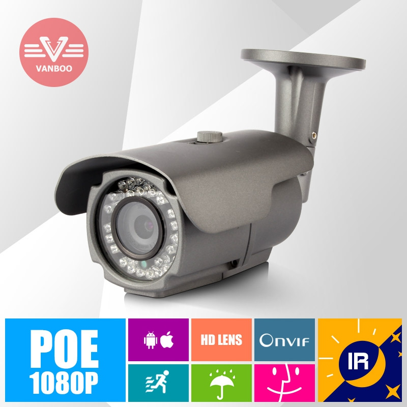 POE Power Over Ethernet 1920*1080P 2MP ONVIF 2.0 Outdoor IR Night Vision P2P Home Security video Camera<br><br>Aliexpress