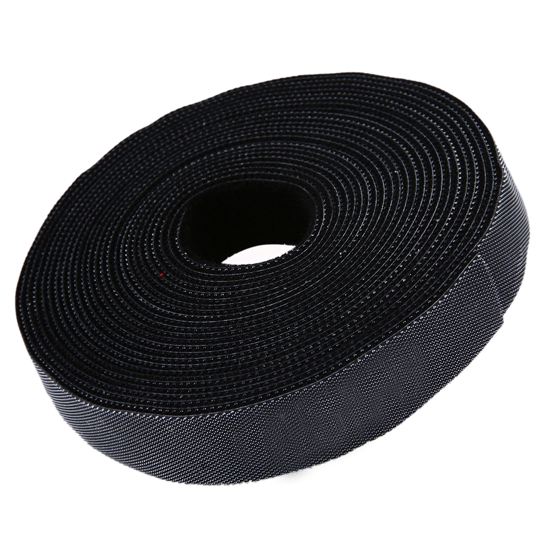 Long Fastening Tape 2cm One Wrap Hook & Loop Fastening Tape Cable Ties 5M Black