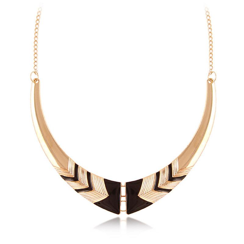 Гаджет  Black Friday Vintage Fashion Statement Necklaces Personality Crescent Necklace Short Collares Women Moon Necklace Gold Chain  None Ювелирные изделия и часы