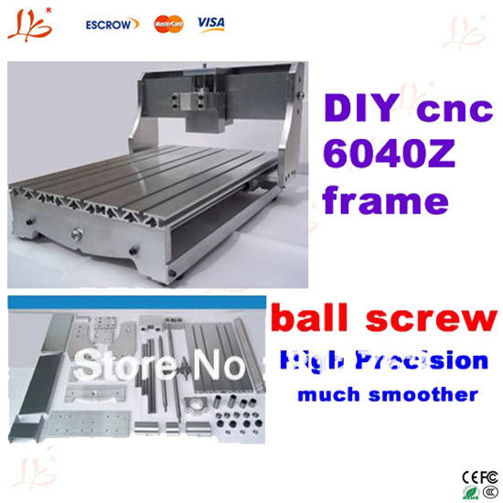 cnc 6040 lathe bed frame parts with high precision ball screw for diy your cnc 6040 with different spindle motor and inverter(China (Mainland))