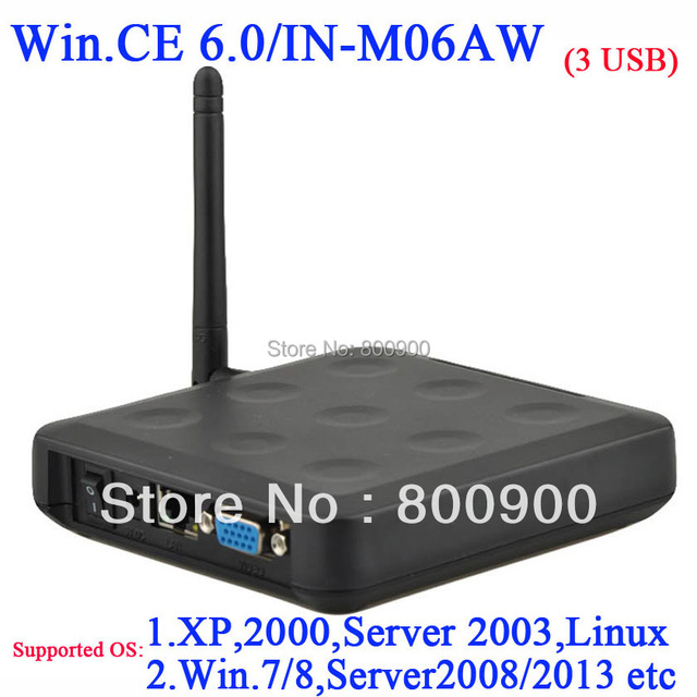N380W Windows CE 6.0 thin client with WiFi ARM11 800MHz 128MB RAM 128MB Flash XP 2000 Server 2003 Windows 7 or 8 Linux supported