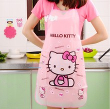 Hello kitty Mickey doraemon Cartoon Waterproof  transparent  kitchen Aprons 6 choose Promotion Special Offer Apron for men women(China (Mainland))