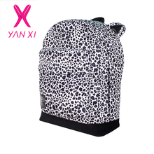New 2015 style 2 colors women's leopard bags student school bags fashion travel bags vintage cute korean ultralight Backpack(China (Mainland))