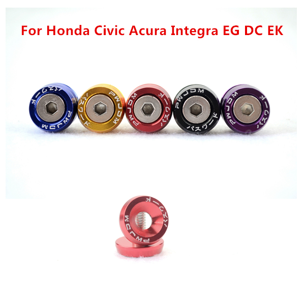 8Pcs/set 18mm Auto fastener clip Blue Red Gold Black Purple Fender Washers Fit For Honda Civic Acura Integra EG DC EK(China (Mainland))